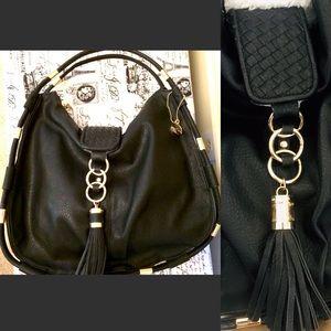 Big Budda Black Tassel Gold Hardware Oversize Bag